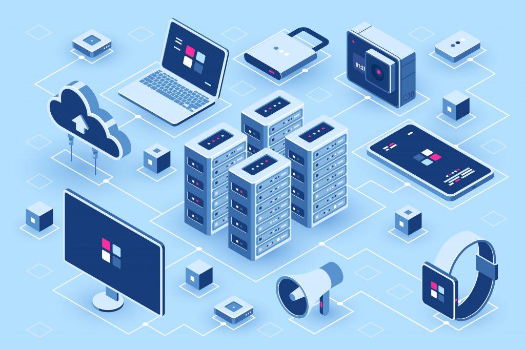 CAPEX vs OPEX: ilustraciones de componentes, equipos, bienes de capital y sistemas de una empresa